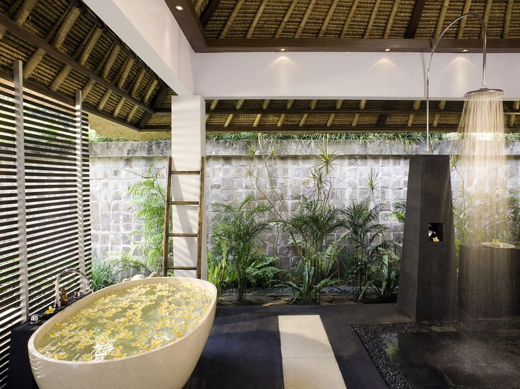 Semi Outdoor Bathroom Bali