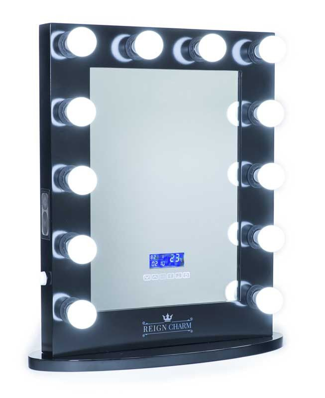 The Rockstar Hollywood Vanity Mirror with Bluetooth Audio-Enabled Speakers