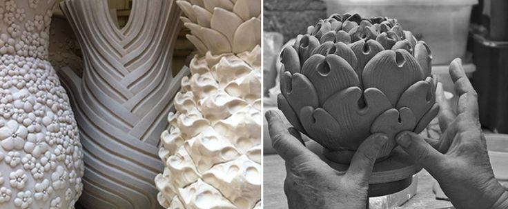 Vital forms - ceramics by Kate Malone. http://www.naturalscool.com/post/2513/vital-forms-talking-ceramics-with-kate-malone/