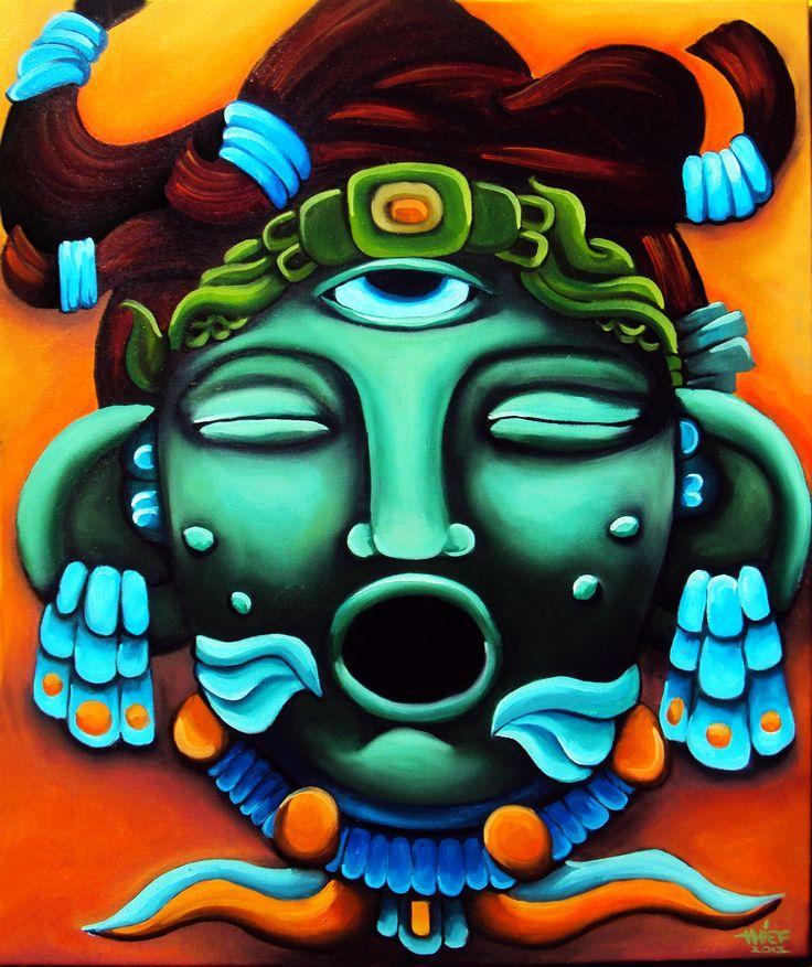 Jade Mask. Oil an Canvas 60*50
