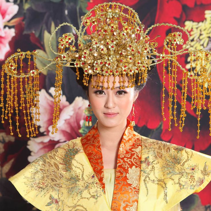 Royal beautifully fitted costume headdress headdress Coronet Chinese costume hat bride wedding hair accessories headdress