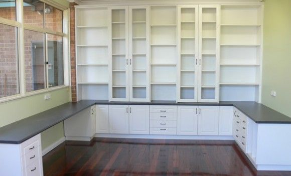 Craft Room Storage Cabinets | Built In Desk And Cabinets