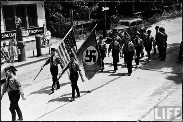 Nazis in America in the 1930s - The German American Bund or German American Federation was an American Nazi organization established in the 1930s. Its main goal was to promote a favorable view of Nazi Germany.