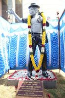 Latest Images of Inauguration of Michael Jackson Granite Statue by Actor Prabhu Deva Photos Hot Gallerywww.vijay2016.com