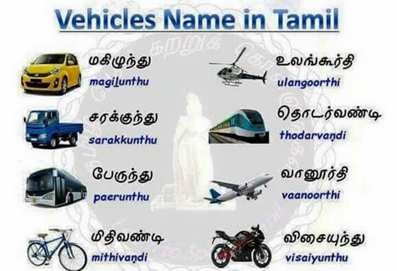 vehicle names in tamil tamil pinterest vehicles and names. Black Bedroom Furniture Sets. Home Design Ideas