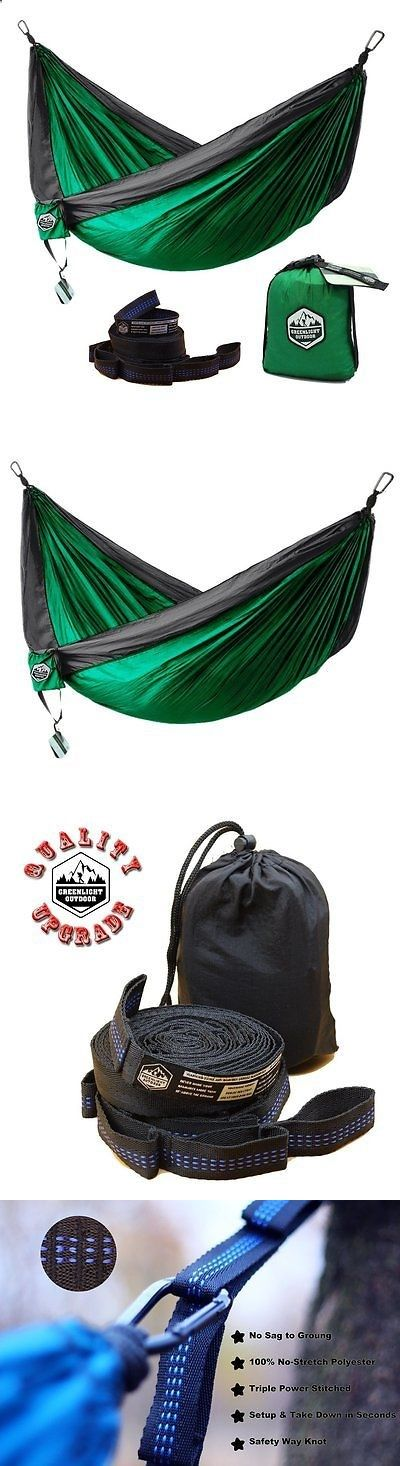 Hammocks 159030: Greenlight Outdoor Camping Hammocks - Double Camping Hammock With Tree Straps - -> BUY IT NOW ONLY: $43.89 on eBay!