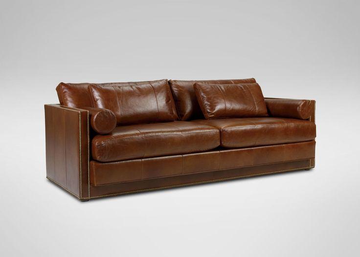 Abington Leather Sofa   Ethan Allen