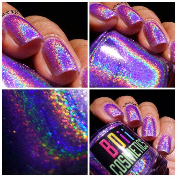 Holographic nail polish holo nail polish I'm a by boiicosmetics