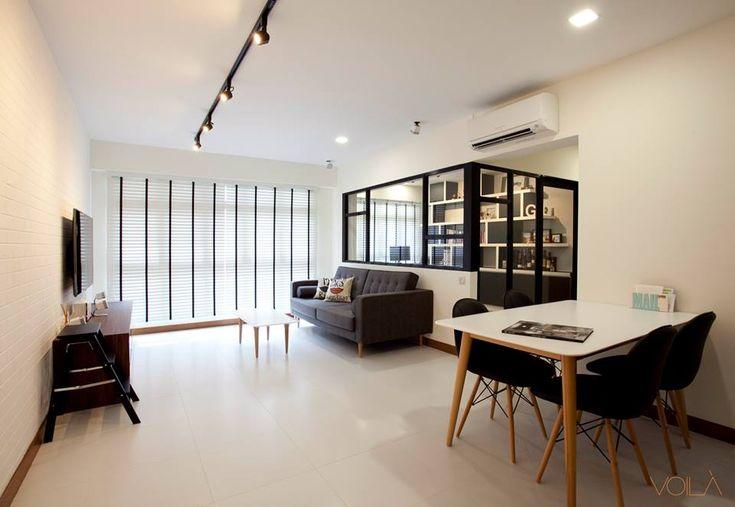 HDB Scandinavian & Modern Victorian @ Blk 326 Anchorvale - Interior Design Singapore