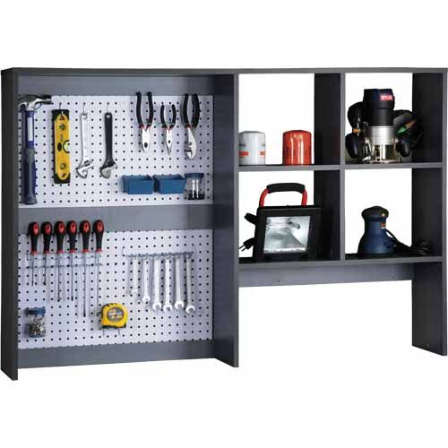 WARRIOR Tool Organiser H: 920mm, W: 1400mm, D: 240mm SKU# 181249  EXCLUSIVE TO MITRE 10  Multi-use organiser with built-in peg board.  Ready to assemble  2 year warranty.