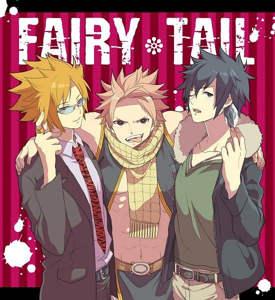 Fairy Tail -- Lucy's boys... her celestial spirit friend, her number 1, and her teammate!