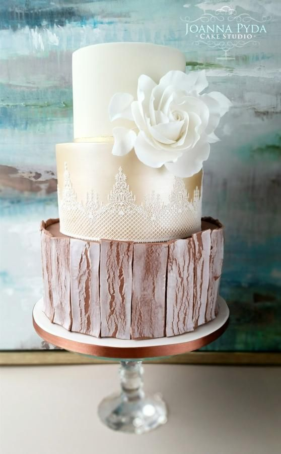Autumn Wedding Cake by Joanna Pyda Cake Studio - http://cakesdecor.com/cakes/258975-autumn-wedding-cake