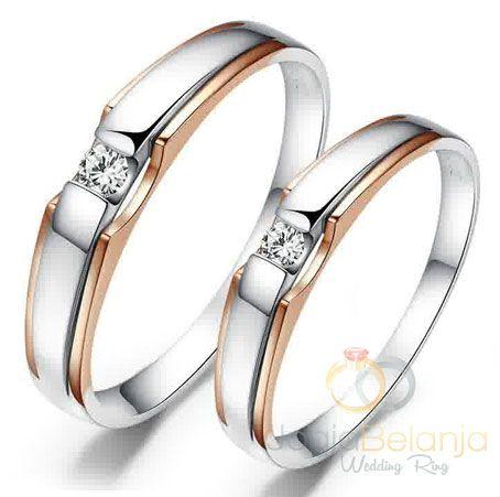 cincin kawin fine perak lapis rhodium