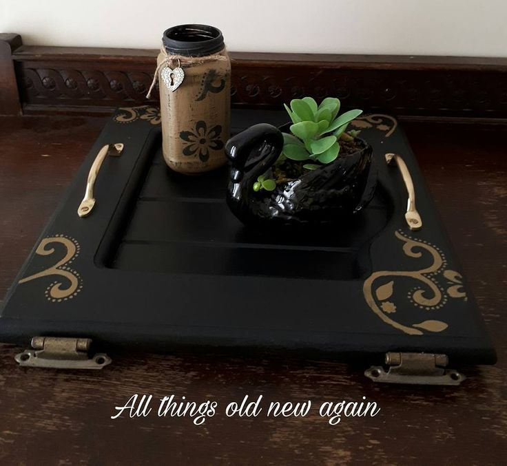 Cute little repurposed serving tray in a rustic yet elegant theme available for sale