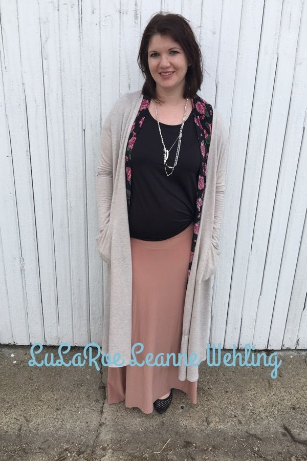 Layering your LuLaRoe- Maxi Skirt, classic tee, Joy Vest and Sarah Cardigan. LuLaRoe also makes great maternity wear. Https://m.facebook.com/groups/lularoeleannewehling Lularoeleannewehling@gmail.com