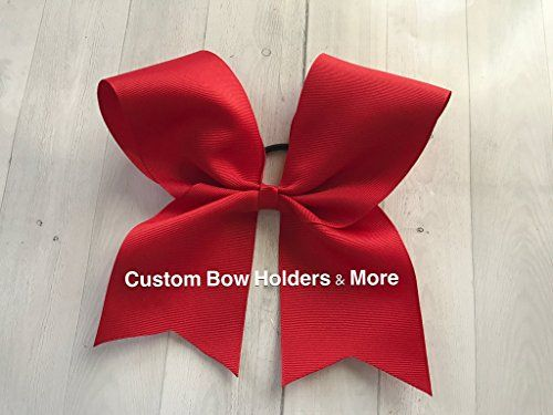 "Cheer Bow - 6"" Grosgrain Basic Cheer Bow Cheerleader Bow, Red Valentines Day"
