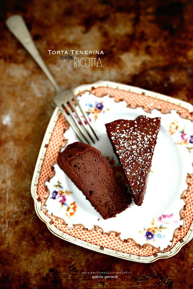 Torta Tenerina con la ricotta - Chocolate Cake