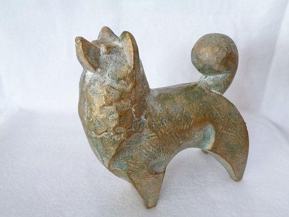 1732 Akita Inu Dog Figurine Fine Japanese Art Deco Heavy Iron Akita Inu Dog Statue Nambu Tekki Akita Artwork Nice Design Akita Dog Japanese Dogs Japanese Akita