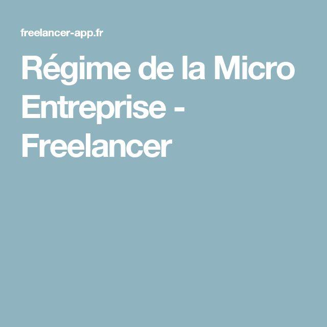Régime de la Micro Entreprise - Freelancer