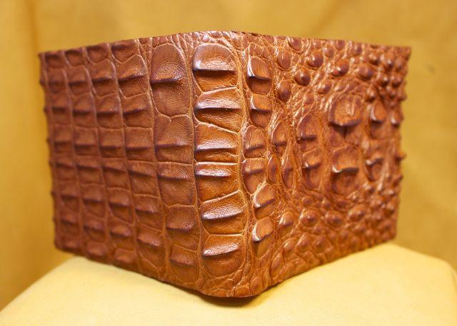 """Classic"" Hornback Cognac Alligator Wallet"