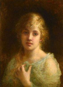 Alexei Alexeievich Harlamoff - Portrait of Felia Litvinne