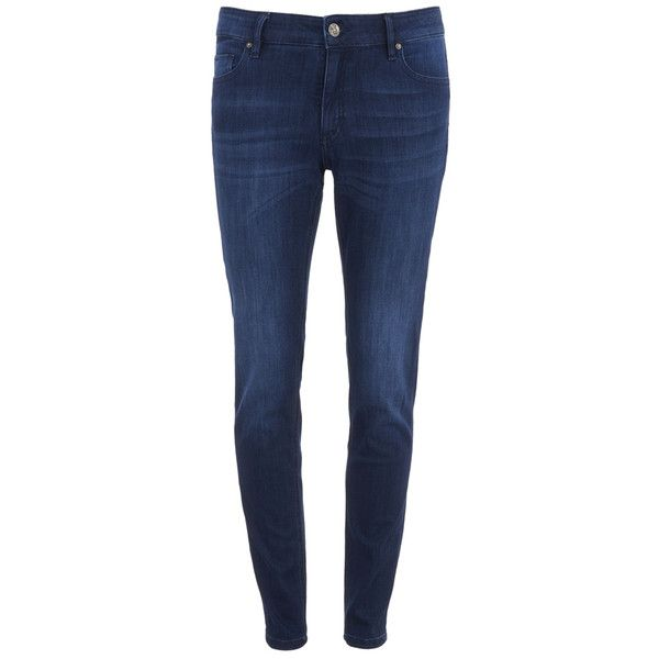 BOSS Orange Women's Orange J20 Jeans - Light Navy (€56) ❤ liked on Polyvore featuring jeans, navy, slim blue jeans, slim leg jeans, slim fit blue jeans, slim jeans and boss orange jeans