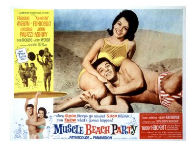 muscle beach party movie poster | muscle beach party 1964 in the 2nd beach film pairing