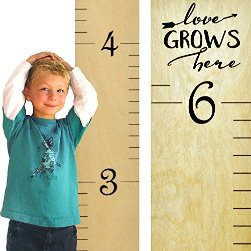 Free DIY Growth Chart Ruler Cut File to make your own life-sized ruler! What a great way to document your kids' growth (and take it with you if you move)!
