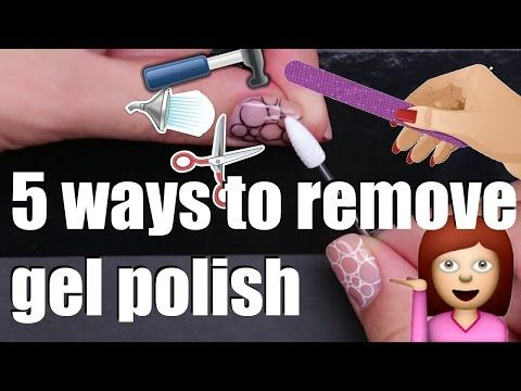 How to remove gel nail polish at home safely? | 5 ways | Gelpolish manicure removal