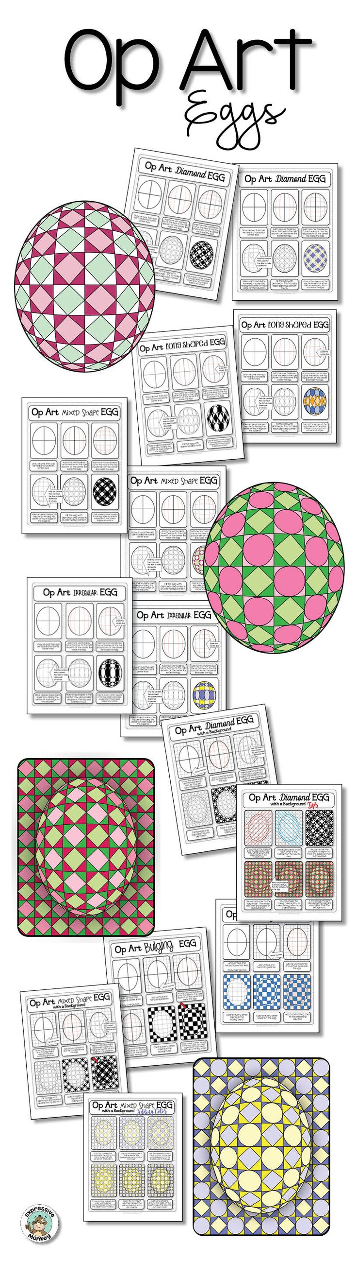 Don't let the pretty eggs fool you! This lesson is rich in art concepts and cross-curricular connections!
