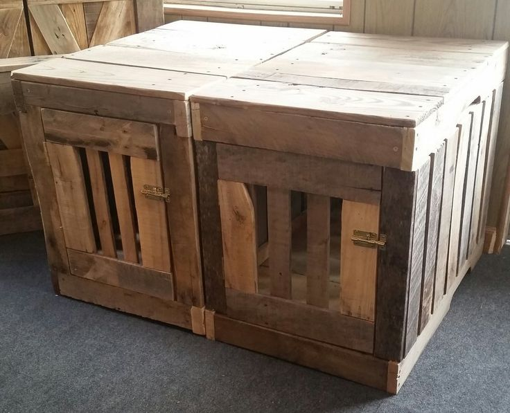25 best ideas about dog crate end table on pinterest for Pallet dog crate