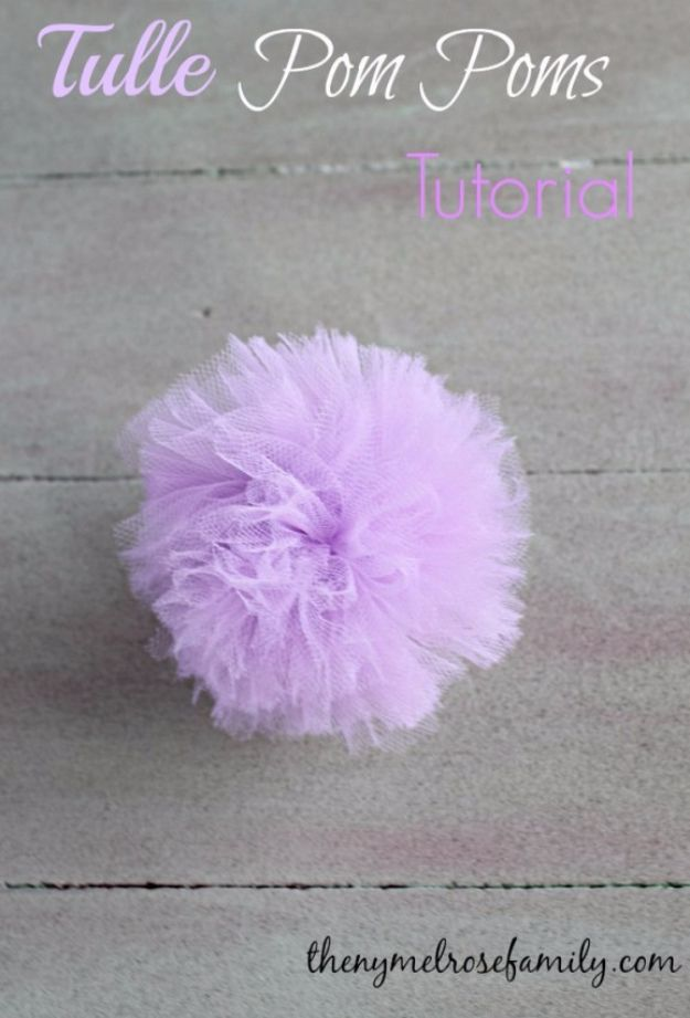 39 Easy DIY Party Decorations - Tulle Pom Poms - Quick And Cheap Party Decors, Easy Ideas For DIY Party Decor, Birthday Decorations, Budget Do It Yourself Party Decorations http://diyjoy.com/easy-diy-party-decorations