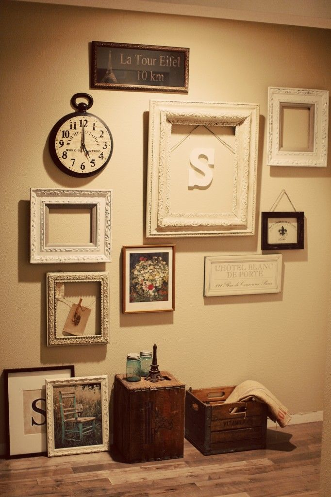 I need some ideas to do a large wall grouping decoration - Decorating walls with pictures ...