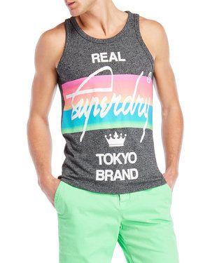 Stripe Real Tokyo Muscle Tank