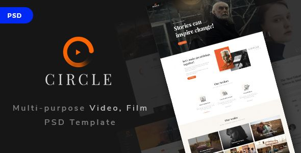 Circle - Multi-purpose Video, Film PSD Template by HaruTheme A) Package Structure In the purchased package, we will include PSD folder (28 psd files) and documentation folder. The list below will list out all psd files in the package Home film maker.psd Home studio.psd Home director.psd Hom