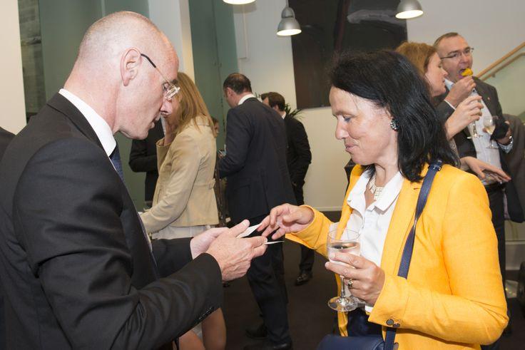 Serge Boscher, Directeur Général de l'AFII et Emmanuelle Vigne, CCI Lyon