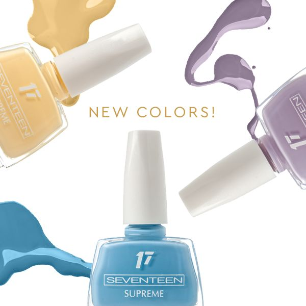 Supreme Nail Polish | Seventeen Cosmetics Try our new Supreme Colors for the perfect spring look! #Seventeen #Cosmetics #nails