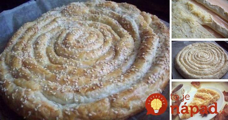 Lístkové cesto, syrová náplň a hravé zatočené prevedenie. Vyskúšajte vynikajúci slaný koláč s lahodnou náplňou.