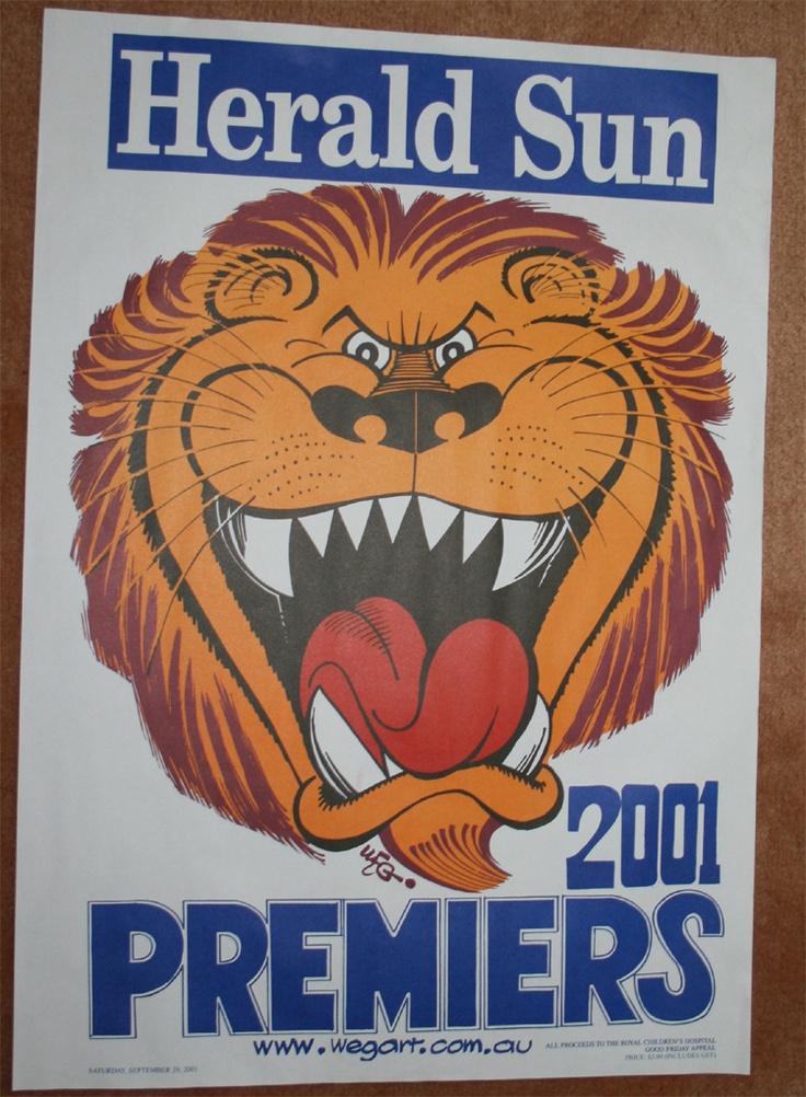 Weg Premiers Poster 2001 Brisbane Lions