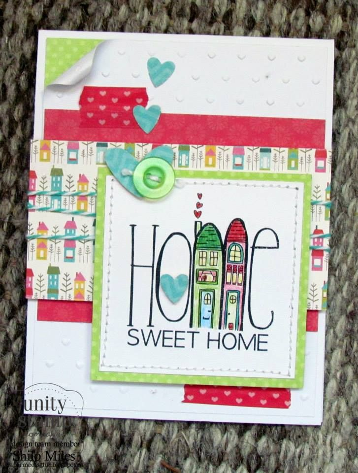 Card Making Ideas New Home Part - 39: I Will Case This Cute Card And Us Die Cuts Of My Tall Building/home