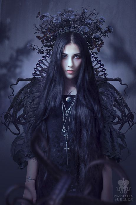 Violetta / Nathalia Suellen   Wearing Ace of Swords necklace / Oracle necklace and Sword cuff all Blood Milk