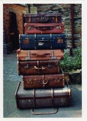 vintage luggage. suitcases in vintage style luggage