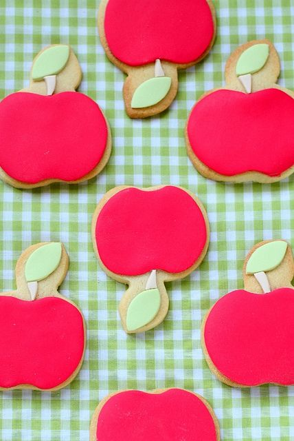 apple cookies! by hello naomi, via Flickr