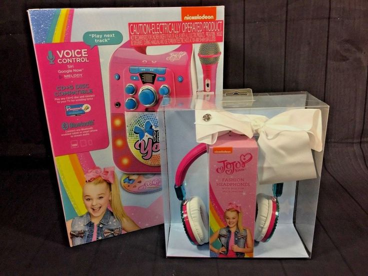 JoJo Siwa Fashion Headphones Built In Microphone & Karaoke Machine *FAST SHIP* #eKids