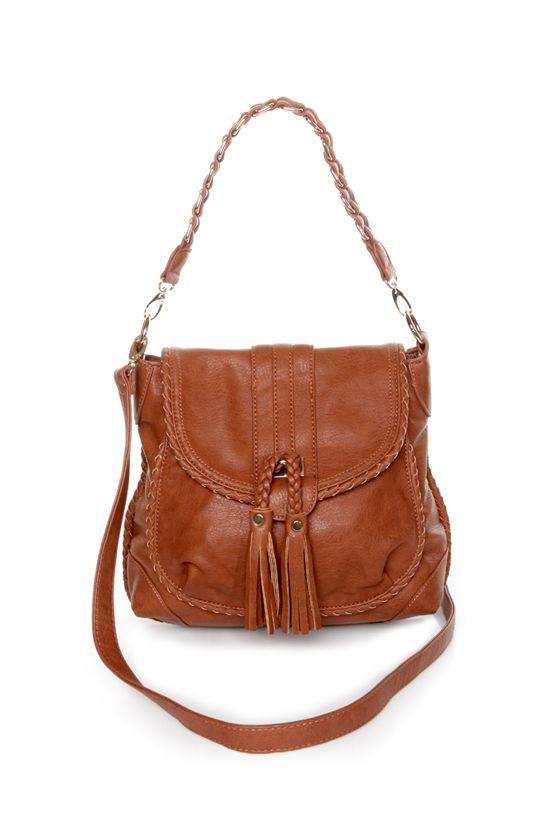 Cute Brown Handbag - Tan Handbag - Vegan Purse - $55.00