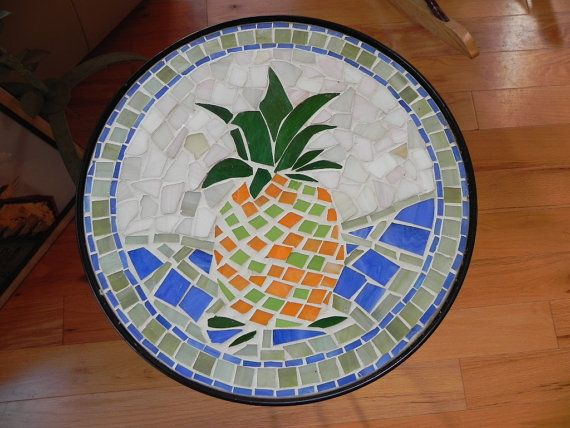 Round HandMade Mosaic Tile Bistro Table by Magpielang on ...