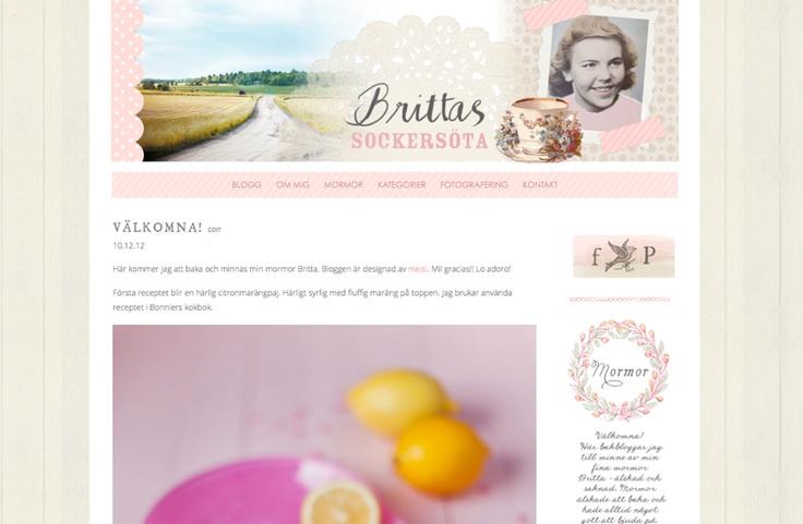 Prophoto template customization for http://brittassockersöta.se
