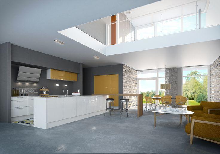 33 best cuisines modernes hygena images on pinterest modern kitchens contemporary kitchens. Black Bedroom Furniture Sets. Home Design Ideas