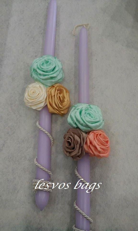 flowers with fabrics