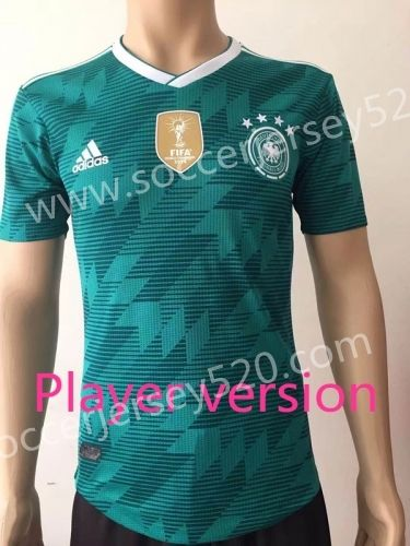 Player Version 2018 World Cup Germany Away Green Thailand Soccer Jersey AAA c297e677d